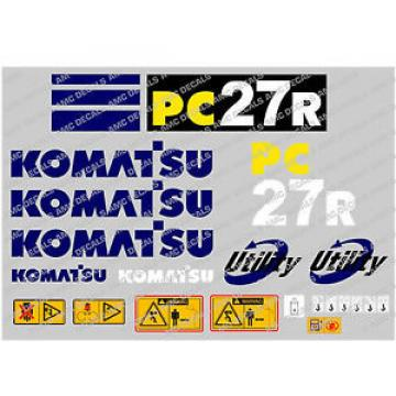 KOMATSU PC27R DIGGER DECAL STICKER SET