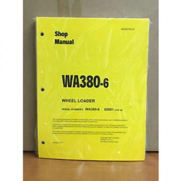 Komatsu WA380-6 Wheel Loader Shop Service Repair Manual (H65001 & up)