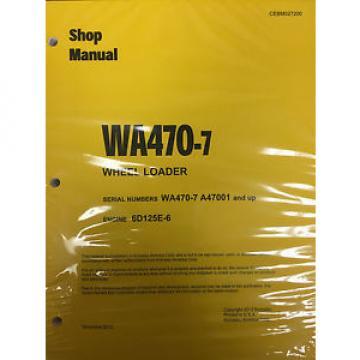 Komatsu WA470-7 Wheel Loader Shop Service Repair Manual