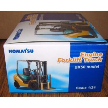 KOMATSU BX50 Engine Fork Lift Truck Toy 1/24 Die Cast Metal Collectible  HTF
