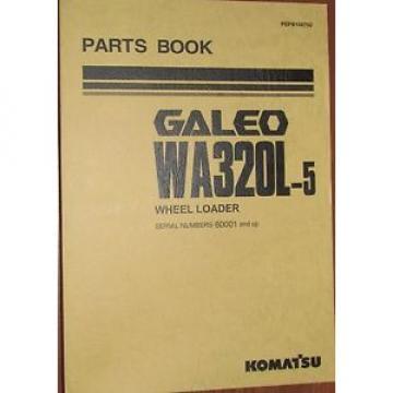 PARTS MANUAL FOR WA320L-5 SERIAL 50001 KOMATSU WHEEL LOADER