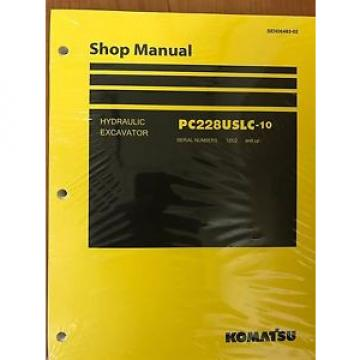 Komatsu PC228USLC-10 Service Repair Printed Manual Shop