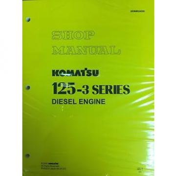 Komatsu 125-3 Series Engine Factory Shop Service Repair Manual