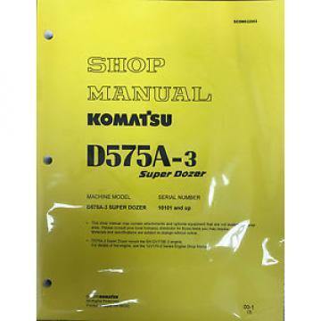Komatsu D575A-3 Dozer Service Repair Workshop Printed Manual