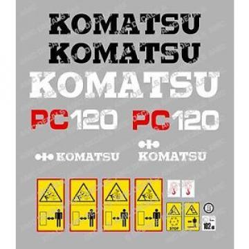 KOMATSU pc120-5 Escavatore Adesivo Decalcomania Set