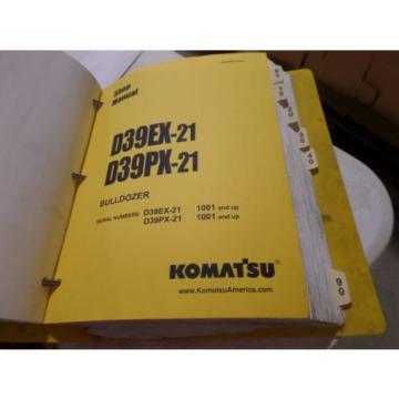 KOMATSU D39EX-21 D39PX-21 BULLDOZER SHOP MANUAL S/N 1001 & UP