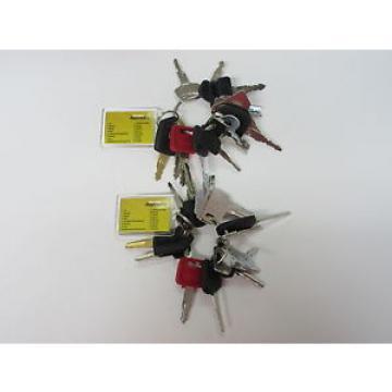 2 sets of Master Key Set (16 keys) for Heavy Plant Caterpillar, Komatsu Hitachi