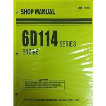 Komatsu 6D114 Series Engine Factory Shop Service Repair Manual