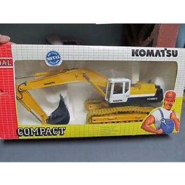 Joal 186 Komatsu Backhoe.  Excavator, Working Metal Tracks.  1/32nd scale.