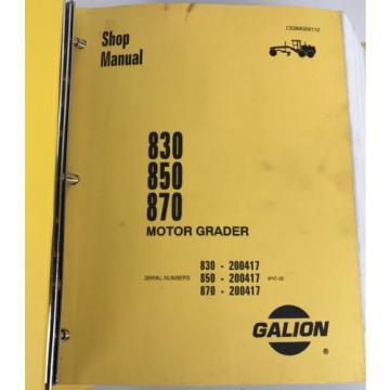 Galion 830 850 870 Komatsu Dresser Motor Grader Shop Service Manual cebmg58112
