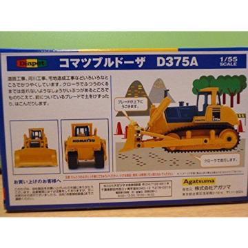 KOMATSU Official DK-6102 Bulldozer D375A 1/55 Scale Model Heavy Equipment New
