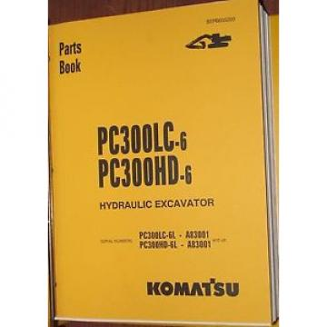 PARTS MANUAL FOR PC300LC-6 SERIAL A83000 AND UP KOMATSU CRAWLER EXCAVATOR