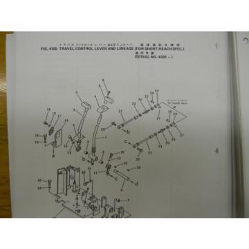 Komatsu PC50-UU1 mini excavator parts manual