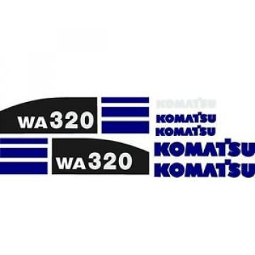 New Komatsu Wheel Loader WA320 (New Style) Blue Decal Set