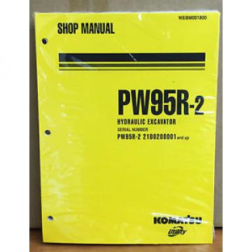 Komatsu Service PW95R-2 Excavator Shop Manual NEW REPAIR