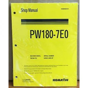 Komatsu Service PW180-7E0 Excavator Shop Manual NEW REPAIR
