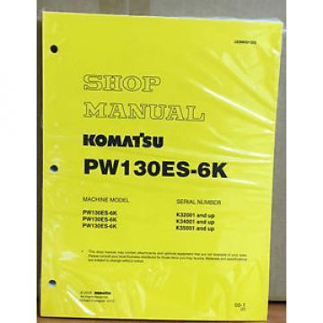 Komatsu Service PW130ES-6K Excavator Shop Manual NEW REPAIR