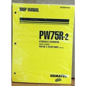 Komatsu Service PW75R-2 Excavator Shop Manual NEW REPAIR