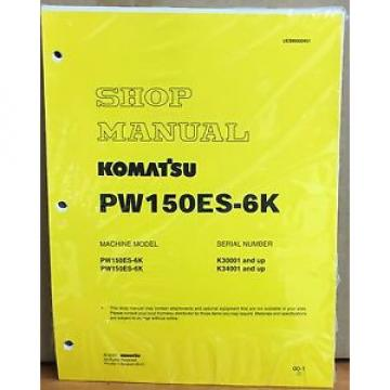 Komatsu Service PW150ES-6K Excavator Shop Manual NEW REPAIR