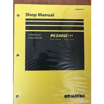 Komatsu PC240LC-11 Hydraulic Excavator Shop Repair Service Manual