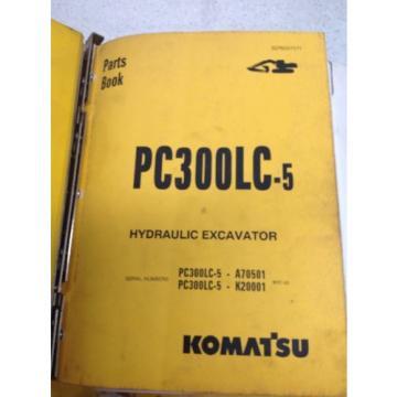 Komatsu PC300LC-5, Hydraulic Excavator Parts Book BEPB207071