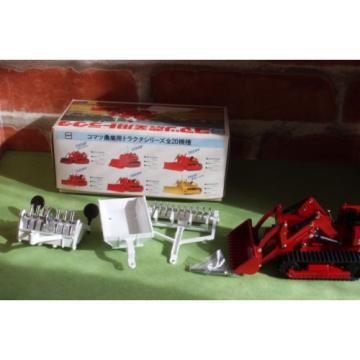 Komatsu D20QF T-68 Bulldozer Tractor Toy w/Rear Ripper 1/50 Yonezawa Diapet NOS