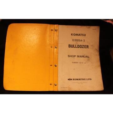 Komatsu attachment book shop Manual Catalog dozer crawler D355A