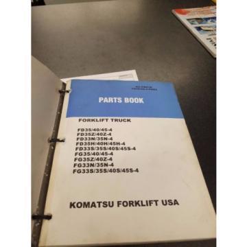 2 komatsu forklift part books