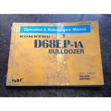OEM KOMATSU D68E, P-1A Bulldozer Operation & Maintenance Manual Book AUC