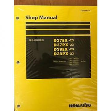 Komatsu D39EX-23 D39PX D37EX D37PX Dozer Bulldozer Shop Repair Service Manual