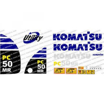 KOMATSU PC50MR DIGGER DECAL STICKER SET
