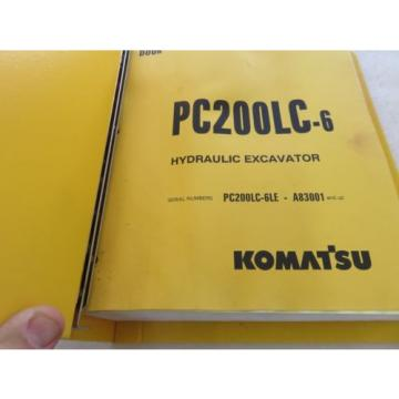 Komatsu - PC200LC-6 - Hydraulic Excavator Parts Manual BEPB001702