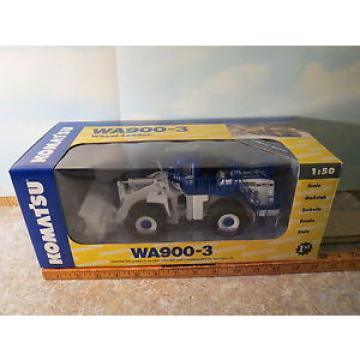 Komatsu WA900-3 Wheel Loader Demo White/Blue 1/50 NIB First Gear