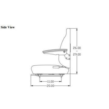 Seat Assembly for Komatsu Wheel Loader WA30-2 WA40-3 WA70-1 WA80-3 WA100-1