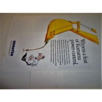 1994 Komatsu Construction Excavator Power Shovel Photo Print Magazine Ad