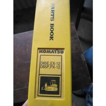 OEM Komatsu D65E EX-12 D65P PX-12 Crawler Parts Catalog Book
