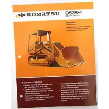 Komatsu D57S-1 Dozer Shovel Original Sales/specification Brochure