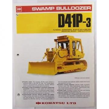 Komatsu D41P-3 Swamp Bulldozer Original Sales/specification Brochure