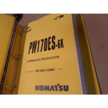 KOMATSU PW170ES-6K EXCAVATOR SHOP MANUAL S/N K30001 & UP