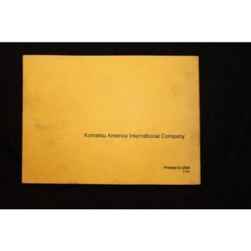 Komatsu Parts book and maintenance Manual Catalog dozer crawler D68E