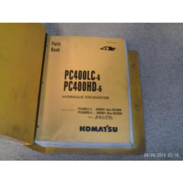 KOMATSU  PC400LC-6 PC400HD-6 HYDRAULIC Excavator Parts Manual with Binder