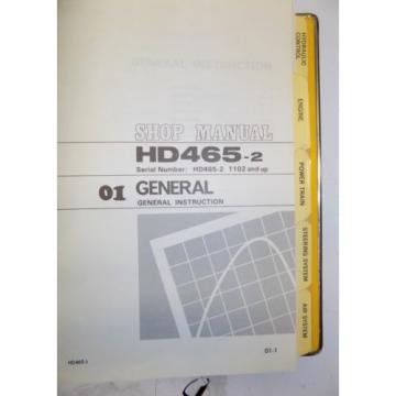 KOMATSU HD465-2 Dump Rock Haul Quarry Truck Service Repair Manual Book Shop 1983