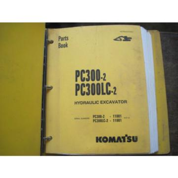 OEM KOMATSU Excavator PC300-2 PC300LC-2 PARTS Catalog Manual Book