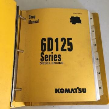 Komatsu 6D125 Series Diesel Engine Manual Dozer Grader Excavator Loader, Mining