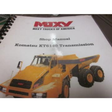 Moxy Komatsu KT6140 Transmission Shop Manual