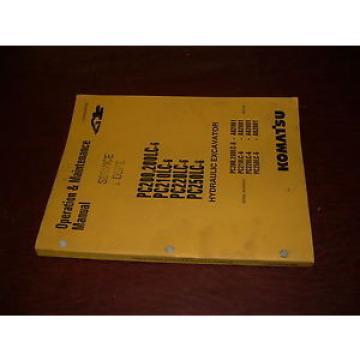 KOMATSU 300 PC300 -5  EXCAVATOR OPERATION MAINTENANCE BOOK MANUAL