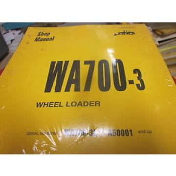Komatsu WA700-3 Wheel Loader Repair Shop Manual s/n A50001 Up