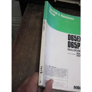 OEM KOMATSU D65EX-12 D65PX-12 Bulldozer OPERATION & MAINTENANCE MANUAL BOOK