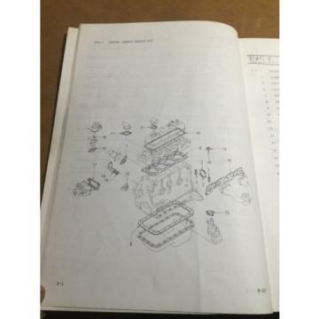 KOMATSU H-20 FORKLIFT ENGINE PARTS BOOK H20-PNE5