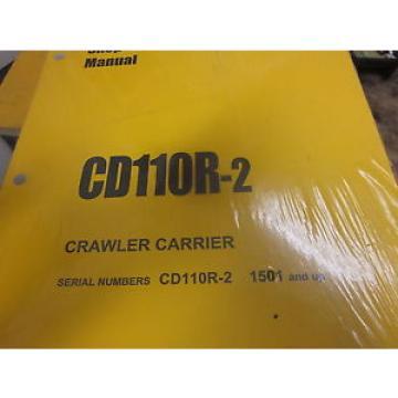 Komatsu CD110R-2 Crawler Carrier Shop Manual s/n 1501 & Up